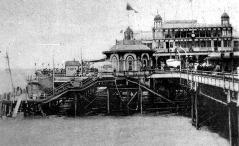 Landing stages around the pier used for diving by the Brighton Diving Club