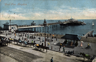 Postcard image of The West Pier late in 19th Century